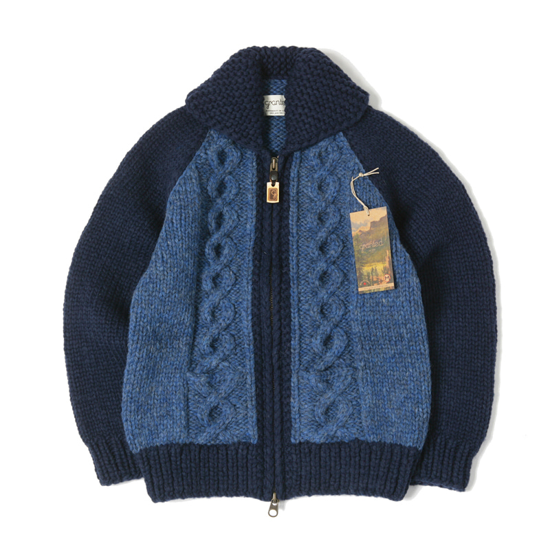 CANADIAN SWEATER - CABLE INDIGO