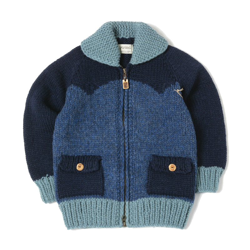 CANADIAN SWEATER - THREE TONE BLOCK INDIGO