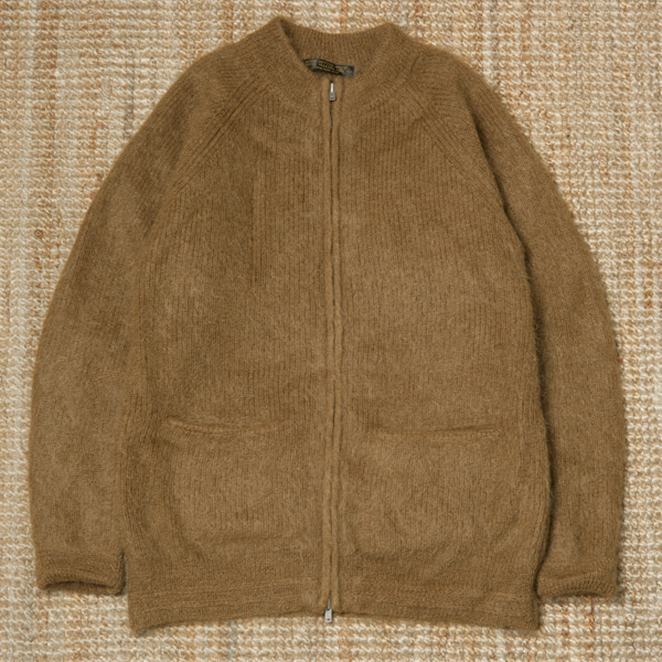 PHIGVEL MAKERS MOHAIR ZIP UP CARDIGAN