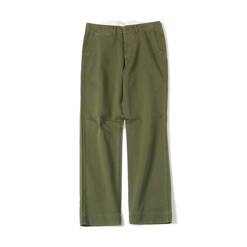 WASHED SMART WIDE CHINO - OLIVE