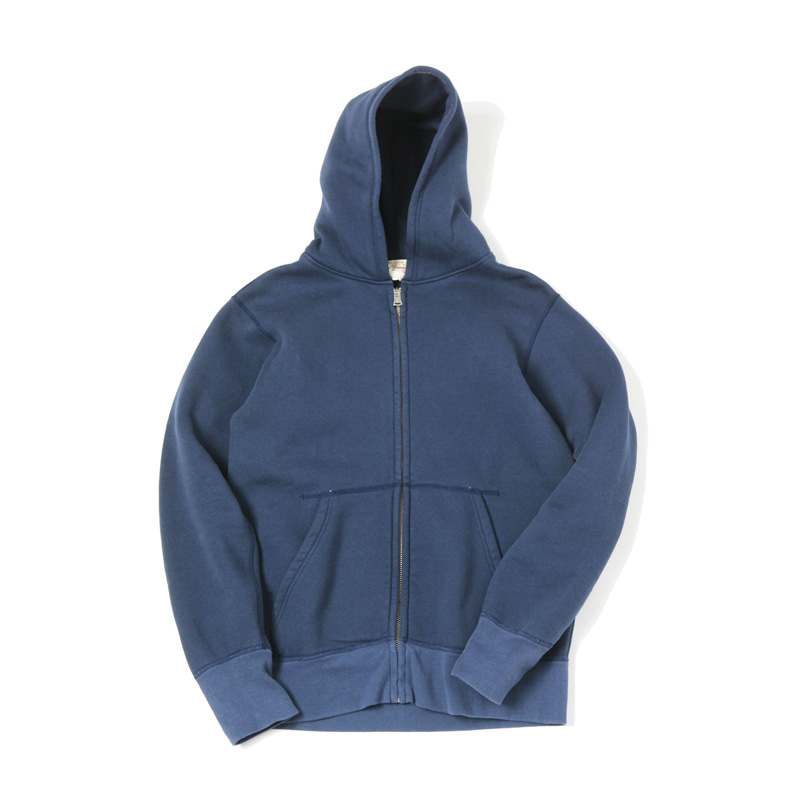 LOOPWHEEL ZIP PARKA - NAVY