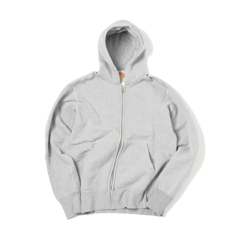 LOOPWHEEL ZIP PARKA - H.GREY