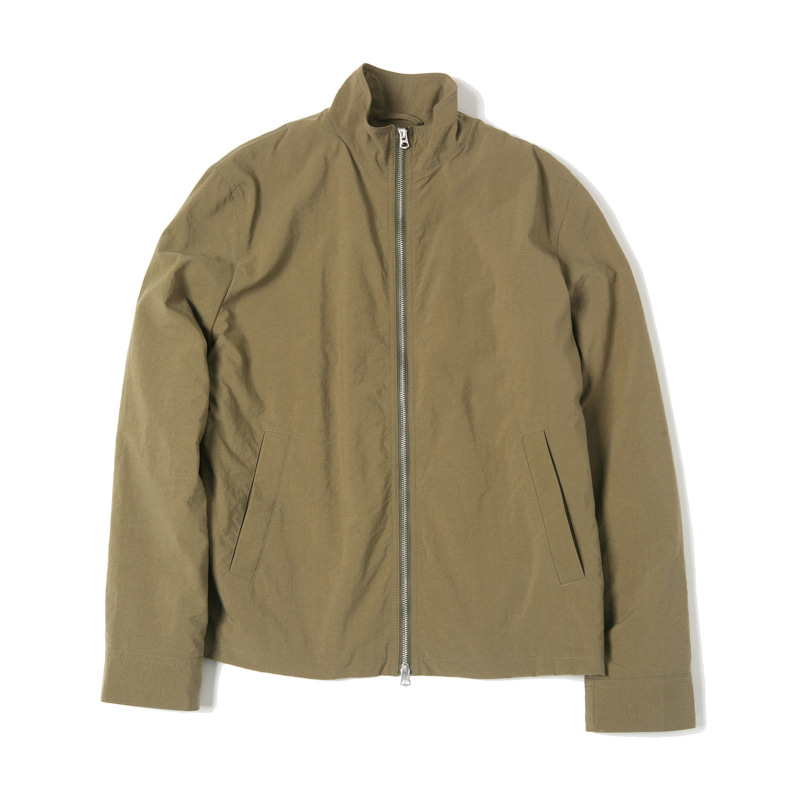 COATED POPLIN INTERCEPTOR JACKET - OLIVE