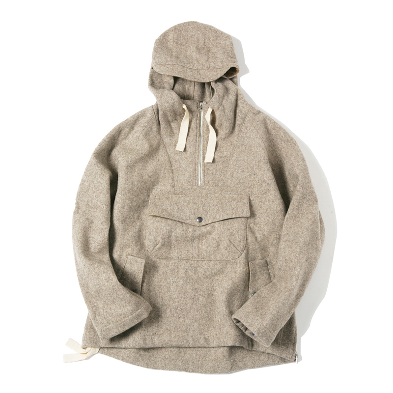 ANORAK JACKET - LIGHT GREY