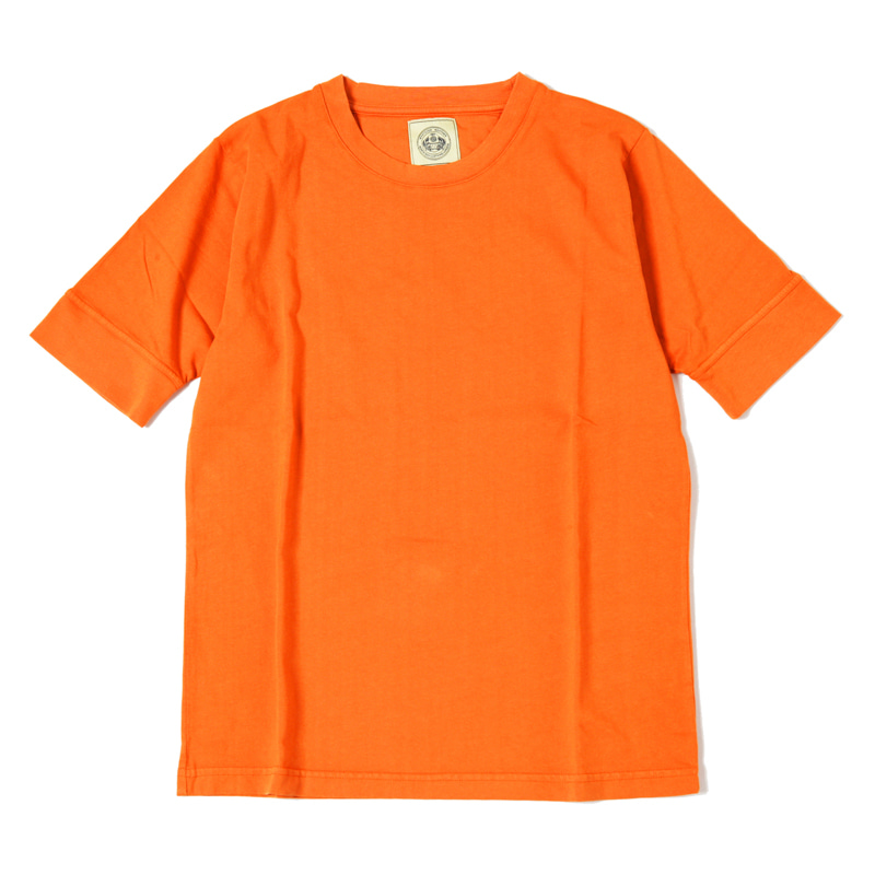 MID WEIGHT CREW NECK TEE - ORANGE