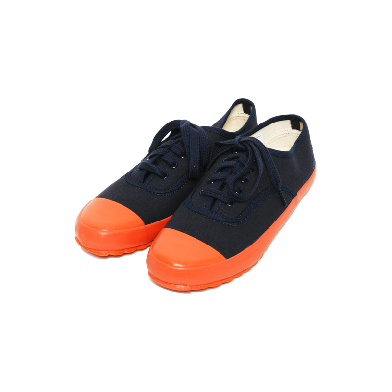 MK 1 LACE UP DECK SHOE - NAVY/ORANGE
