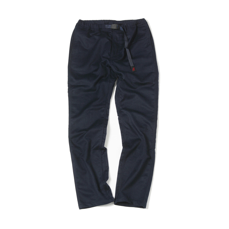 WOOL NARROW PANTS - DOUBLE NAVY