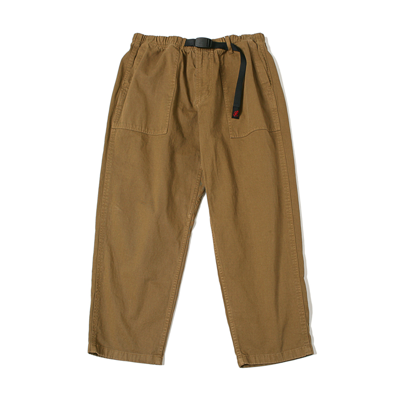 LOOSE TAPERED PANTS - COYOTE