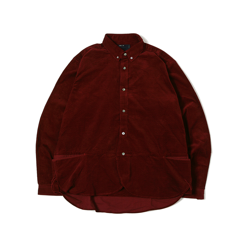 PACKABLE CODUROY SHIRTS - RED