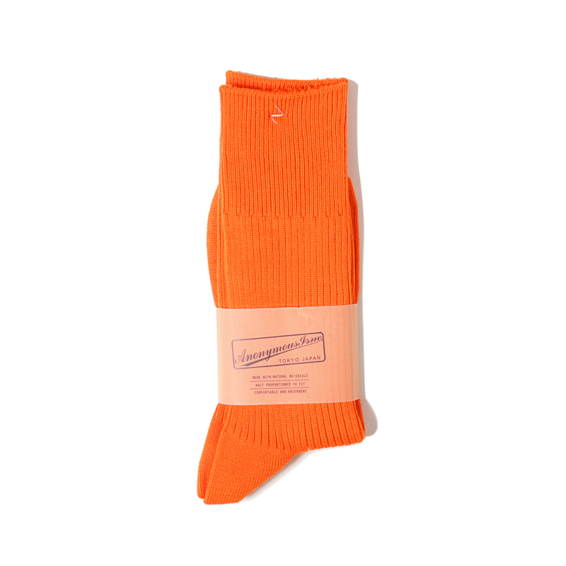 BRILIANT RIB CREW - ORANGE