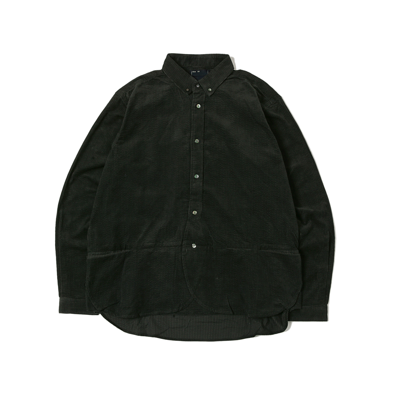 PACKABLE CODUROY SHIRTS - CHARCOAL
