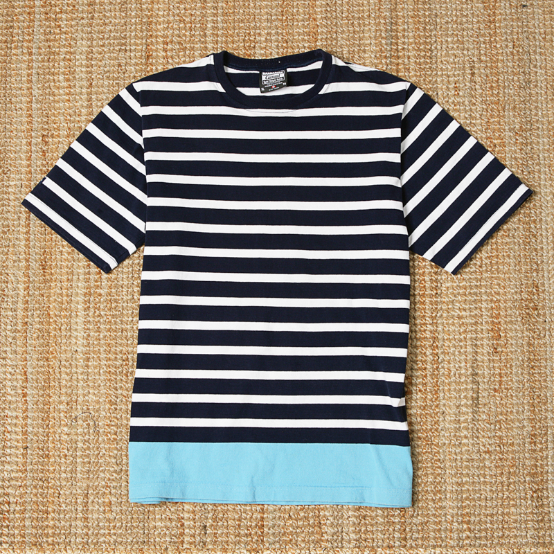 BARBARIAN SS STRIPED TEE - NAVY / WHITE