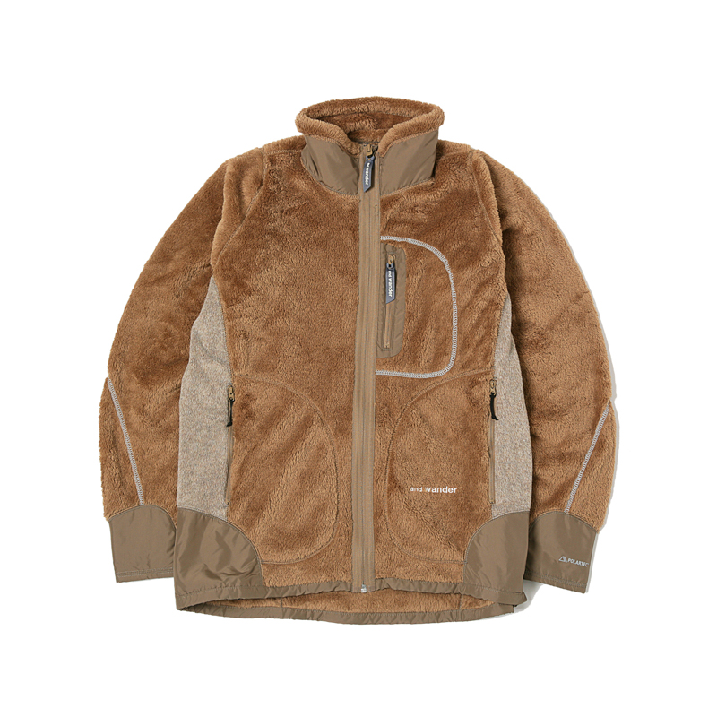 HIGH LOFT FLEECE JACKET - BEIGE