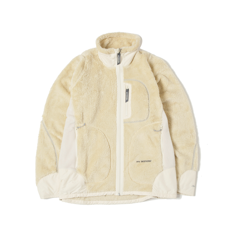 HIGH LOFT FLEECE JACKET - OFF WHITE