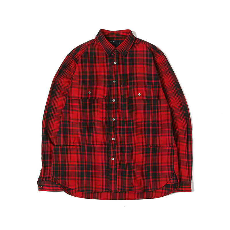 FLANNEL CHECK SHIRTS - RED