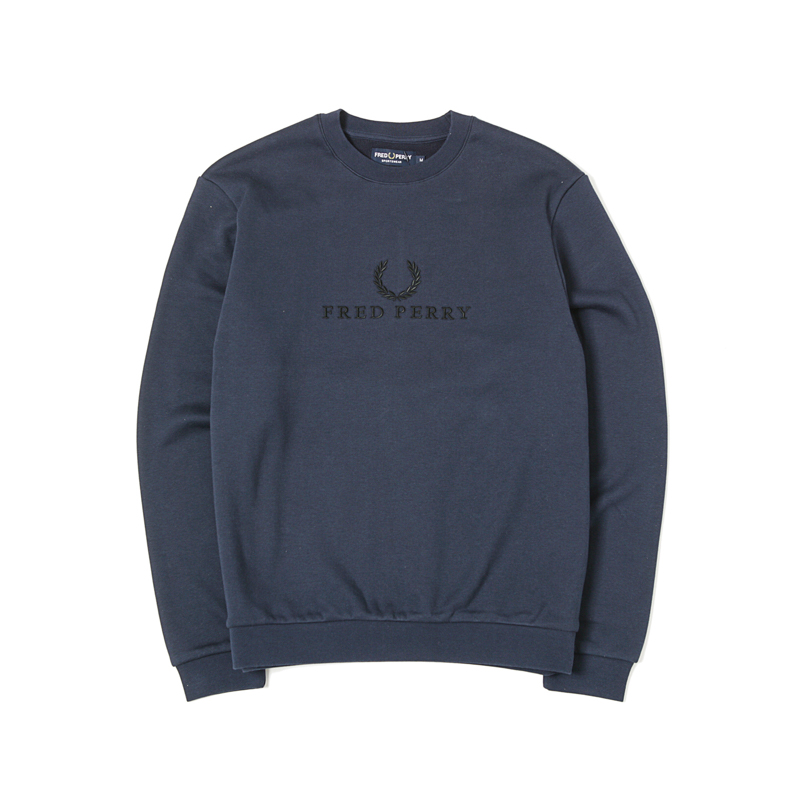 EMBROIDERED SWEATSHIRT - WASH NAVY