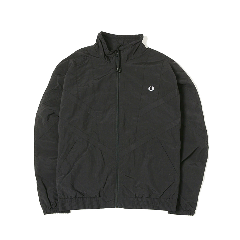 MONOCHROME SHELL JACKET - BLACK
