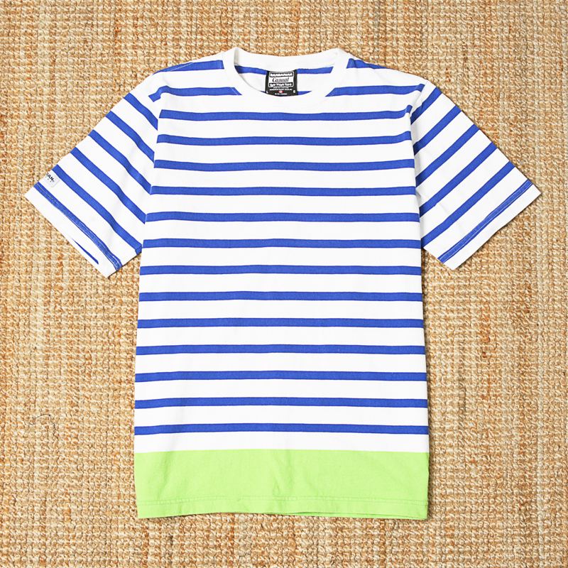BARBARIAN SS STRIPED TEE - WHITE / BLUE