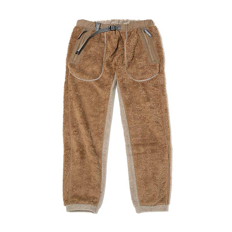 HIGH LOFT FLEECE LONG PANTS - BROWN