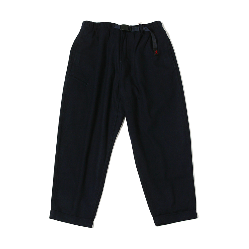 WOOL BLEND RESORT PANTS - DOUBLE NAVY