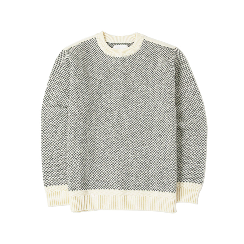 MOHAIR JACQUARD KNIT - IVORY