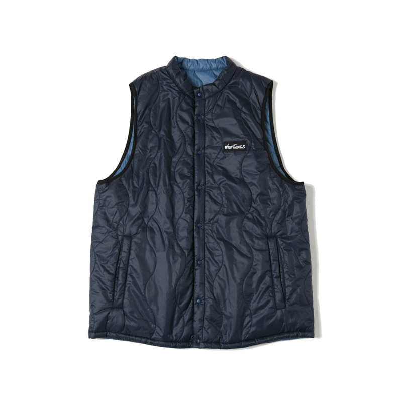 REVERSIBLE VEST - DARK NAVY/SEA BLUE
