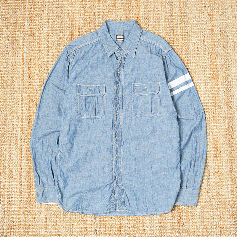 MOMOTARO 5OZ CHAMBRAY WORK SHIRT