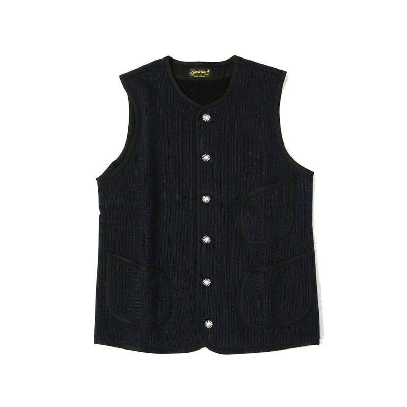 BEACH CLOTH WORK VEST - NAVY (BR7282)