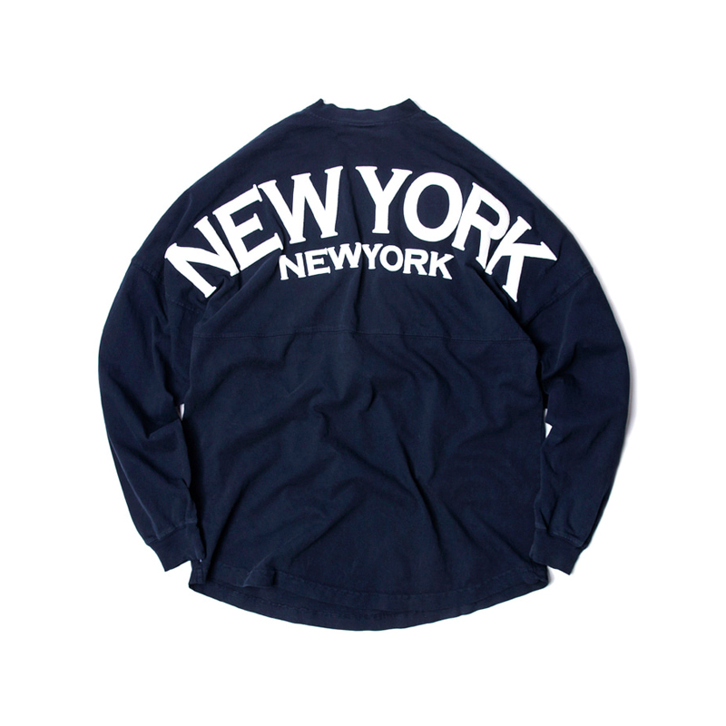 LS TEE NEW YORK - NAVY/WHITE (BOLD)