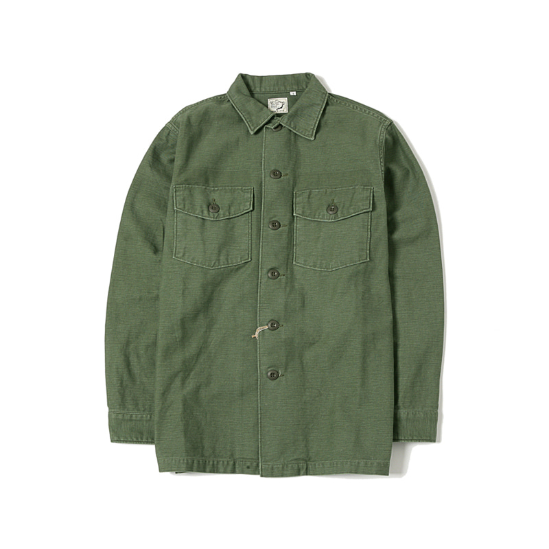 US ARMY FATIGUE SHIRTS - GREEN USED