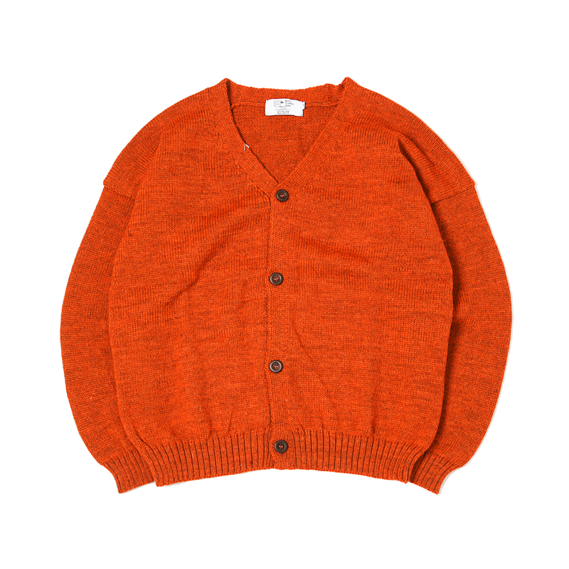 OVERSIZED CARDIGAN - ORANGE