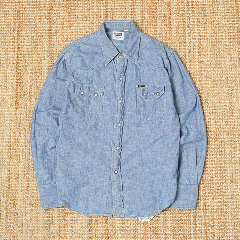 PHERROW'S CHAMBRAY WESTERN SHIRT