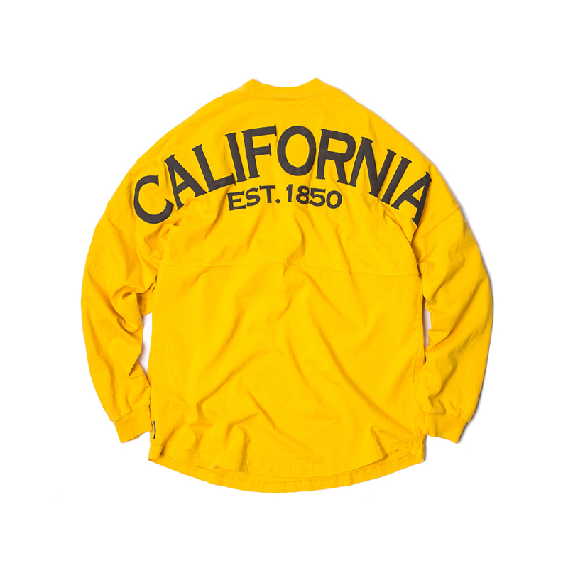 LS TEE CALIFORNIA - YELLOW/NAVY