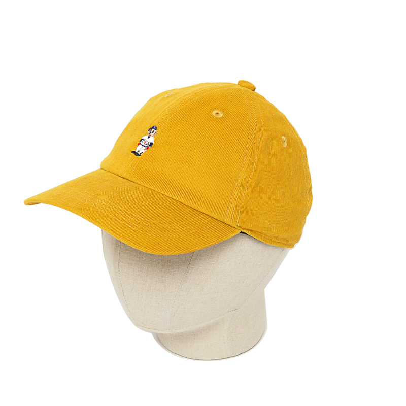 CORDUROY BEAR CAP - YELLOW