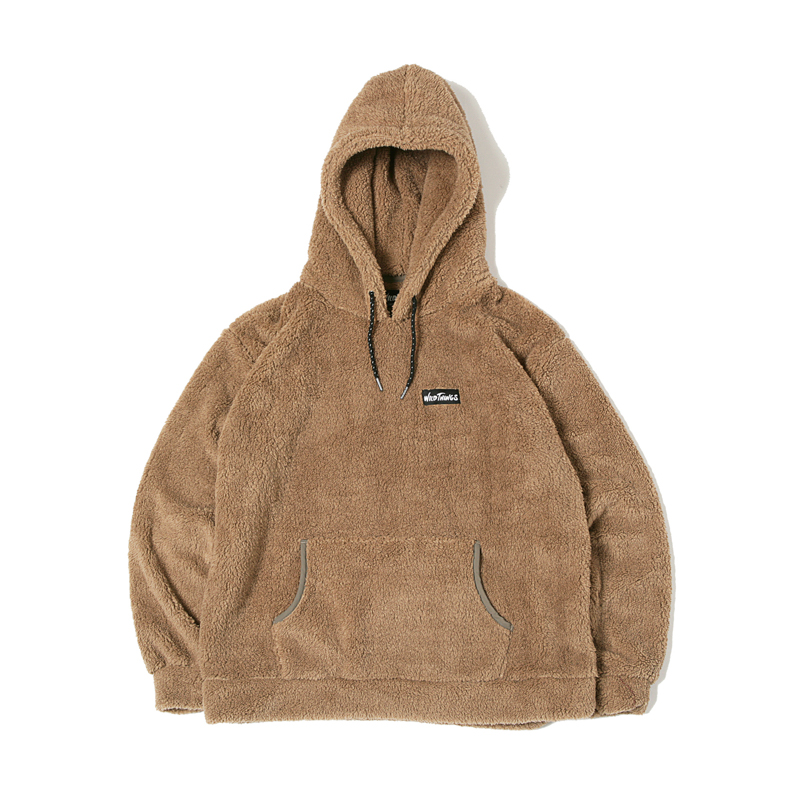 PILE FLEECE HOODED - TAUPE