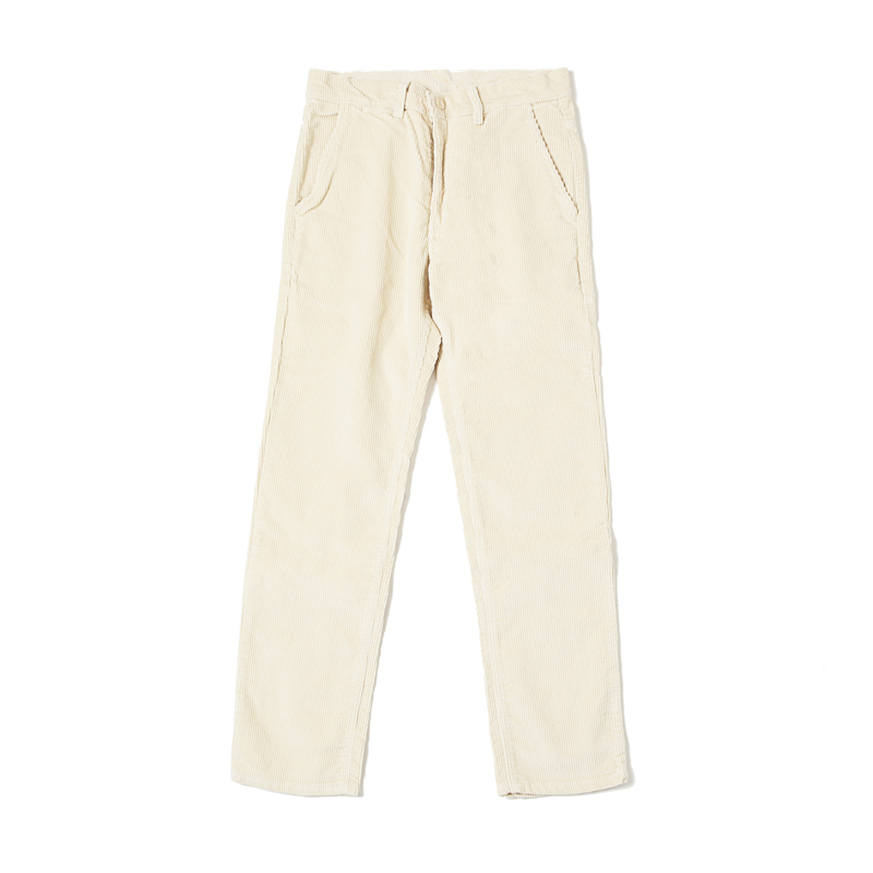 EDDIE HEAVY CORD TROUSERS - CREAM