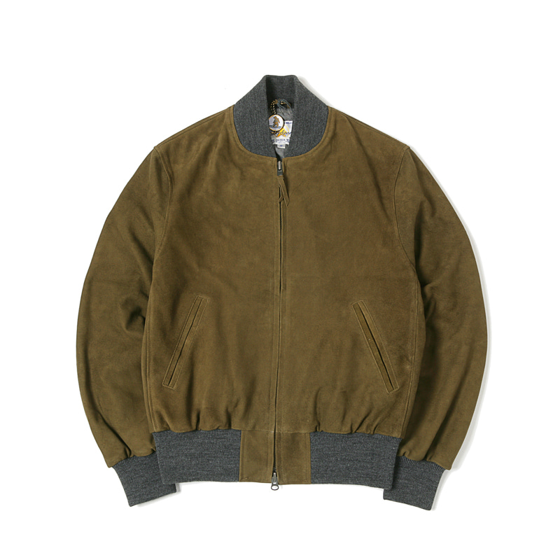 THE HAUS JACKET - MOSS GOAT SUEDE