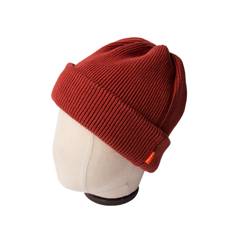 DOUBLE KNIT CAP - BURGUNDY