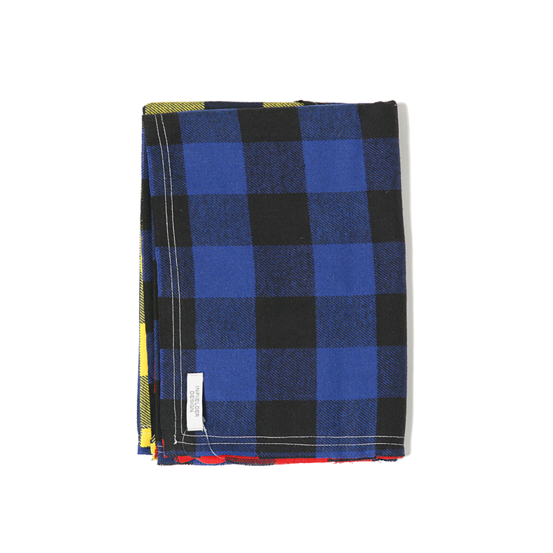 CHECK FLANNEL STALL - RED X BLUE  X YEL