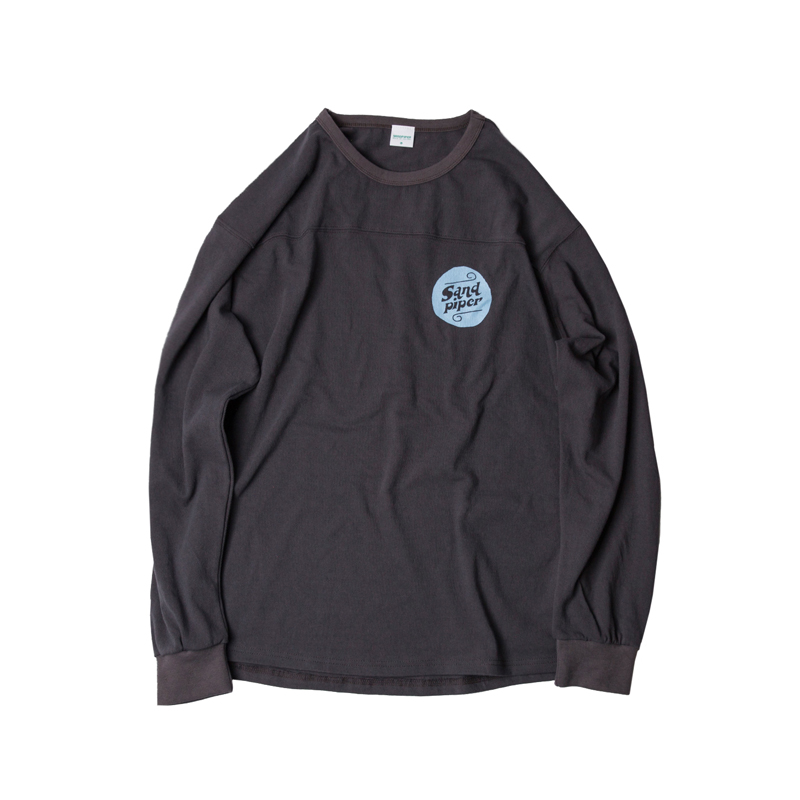 AUTHENTIC LOGO LS T SHIRTS - CHARCOAL