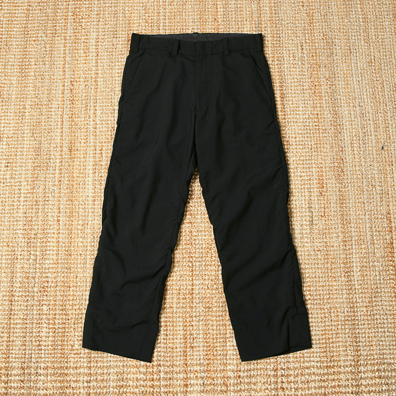 NEEDLES WOOL TROUSERS - BLACK