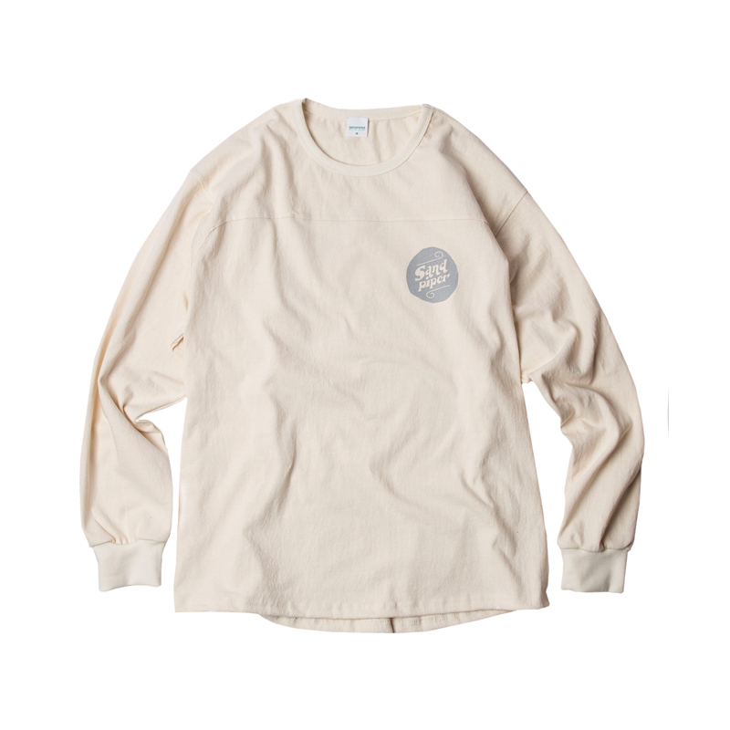AUTHENTIC LOGO LS T SHIRTS - CREAM IVORY