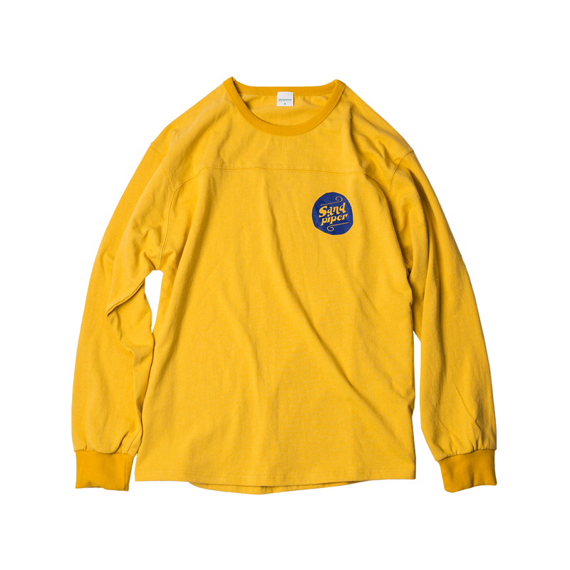 AUTHENTIC LOGO LS T SHIRTS - YELLOW
