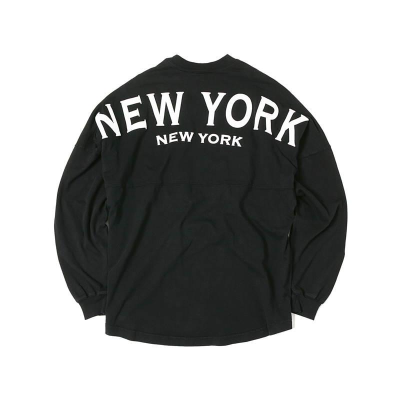 LS TEE NEW YORK - BLACK/WHITE
