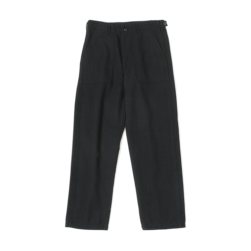 REGULAR WOOL FATIGUE PANTS - NAVY