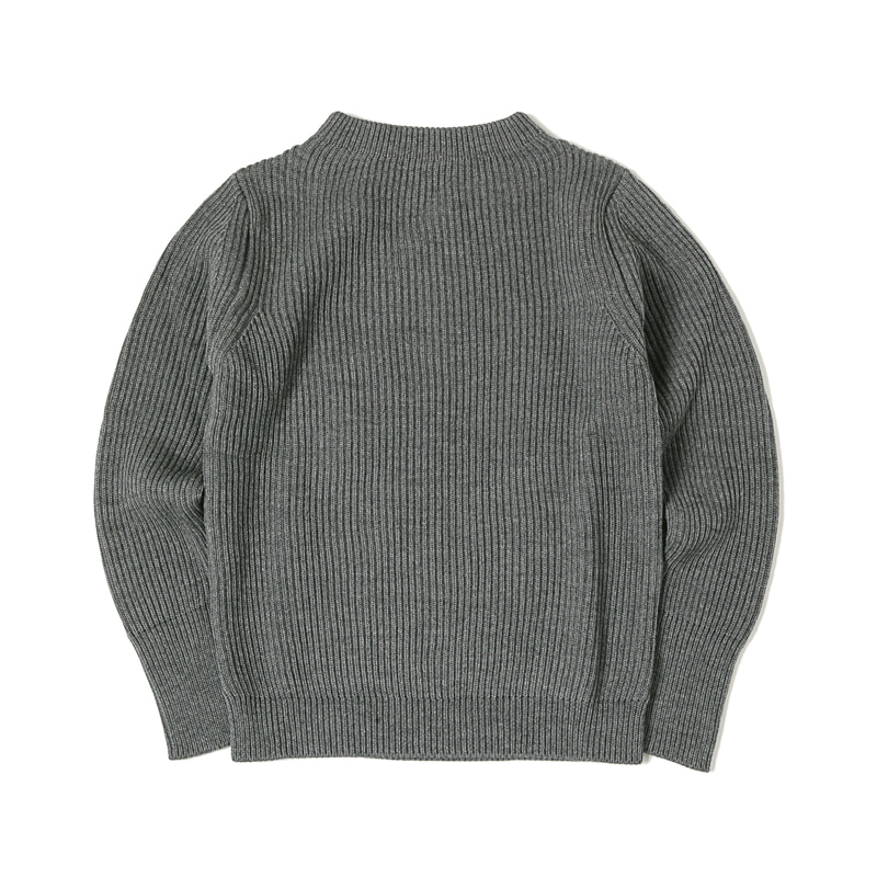 NAVY CREWNECK SWEATER - GREY