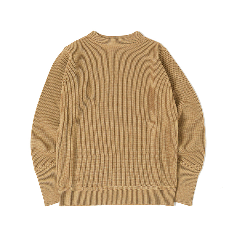 SAILOR CREWNECK SWEATER - CAMEL
