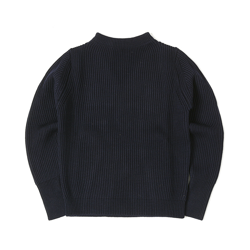 NAVY CREWNECK SWEATER - NAVY BLUE