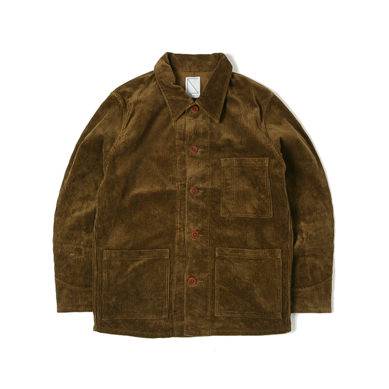 WORK COVER JACKET  - BROWN