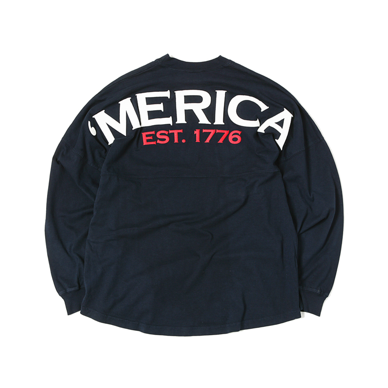 LS TEE AMERICA - NAVY/WHITE/RED